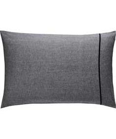Habitat Chambray Black Rectangular Pillowcase at Argos.