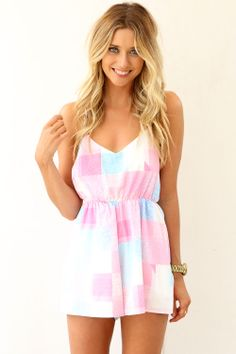 Pastel Mosaic Playsuit