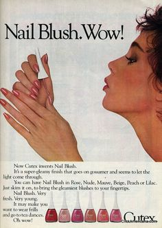 Point to color: Nail polish ads of the '80s (1981-1985) - Click ...