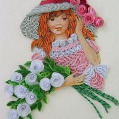 En Yeni Quilling Çalışmaları - Mimuu.com Neli Quilling, Quilling Dolls, Paper Quilling Flowers, Paper Quilling Jewelry, Paper Quilling Patterns, Origami And Quilling, Quilled Paper Art, Quilling Paper Craft, Paper Crafts