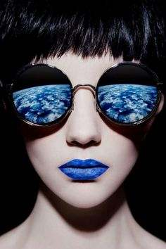 """""""The World of the Senses by Huainan Li"""", photography featuring retro futuristic sunglasses, pinned by Ton van der Veer"""