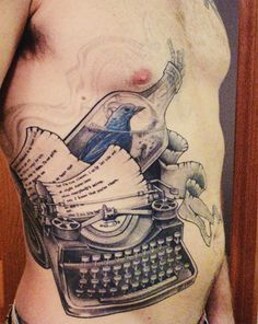 Words Dance: Literary Tattoos : Roundup : Inspired by the Poem : the bluebird by Charles Bukowski