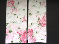 Pair Pink Roses Pillowcases - J C Penny Percale - Standard - Shabby Chic - Country Cottage Chic - Vintage Bedding Sheets  Vintage Linens by shabbyshopgirls on Etsy