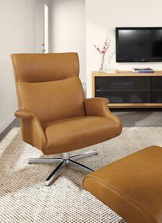 Beau Leather Chair & Ottoman