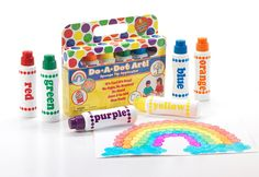 Amazon.com: Do A Dot Art! Markers 6-Pack Rainbow Washable Paint Markers, The Original Dot: Toys & Games