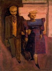 Untitled (Standing Man and Woman) - Mark Rothko 1938 abstract expressionism