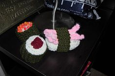 Some sushi I crocheted