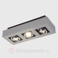 Dreiflammiger LED-Deckenstrahler Vince sicher & bequem online bestellen bei Lampenwelt.de.