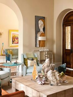 Sophisticated Luxe Residence Hacienda Chic Interior Design Mexican Spanish Living Room