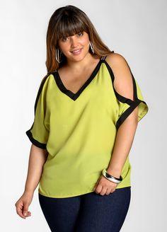 Ashley Stewart: Cold Shoulder Blouse #plussize