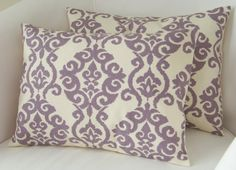 Lilac Purple Pillow Covers Set of Two 12x16 Inch Decorative Pillow Accent Cushion Throw. $32.00, via Etsy.