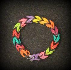 Fishtail Rainbow Loom Bracelet Rubber Band Rubberband Wristband Wrist You Pick Colors