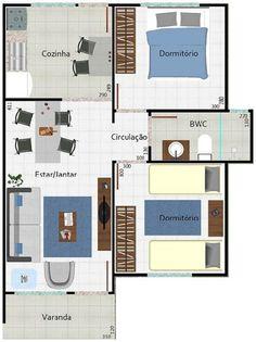 1000 images about planos de casas on pinterest micro for Casa tipo 50 metros cuadrados 2 habitaciones