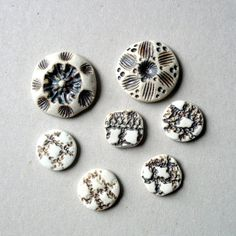 Porcelain Cabochons Ceramic Flatbacks Beading by BlueMagpieDesign