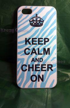 Keep Calm and Cheer on Zebra Teal Back iPhone 5 Case Black White Pretty Cool   eBay