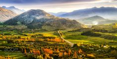Queenstown New Zealand Valley overview by RamelliSerge