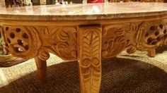 Hardwood Marble Top Furniture at Www.bazahhomearts.com