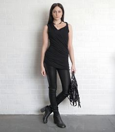 Layered black on black. Love the tabi boots!
