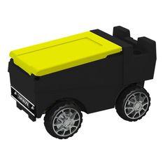 Remote Control Zamboni Ice Chest w/ Bluetooth in Black Body & Neon Yellow Top