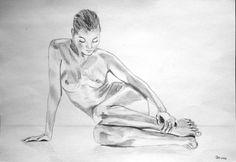 Akt -Skizze | bleistift papier skizze | Zeichnungen