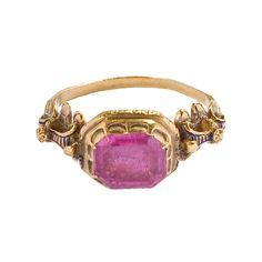 16th Century Jewelry | 16th century tourmaline ring.