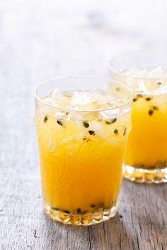 Meyer Lemon & Passion Fruit Lemonade - two favorite flavors come together in a refreshing summertime drink!