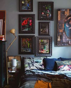 """The bedroom at #88prince filled with photos from @martyn_thompson """"Falling in Love at the Institute"""" series and a King euro """"Cherish"""" pillow ✨ #martynthompson #martynthompsonstudio #cezannesshadow #interiordesign"""