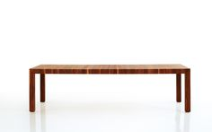 VOLTA table. Presented in walnut sap-wood. Also available in other wood types and with an extension system. Design: Bernhard Müller #massivholztisch, #massivholzmöbel, #esstisch, #esstischholz, #solidwoodtable, #diningtable, #diningtables