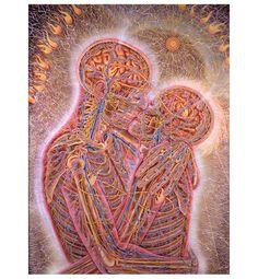 Kissing by Alex Grey #art