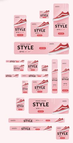 Retail Sale Banner Templates are good for all kind of retail product sale such as shoes, phones, watches, headphones, etc. Design Web, Web Banner Design, Display Banners, Display Ads, Web Banners, Firma Email, Google Banner, Banner Design Inspiration, Design Ideas