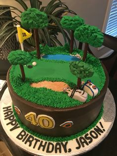 Misty ordered a sweet strawberry cake for her husband's loves golf and his Chicago B Golf Birthday Cakes, Golf Cakes, Guy Birthday, Happy Birthday, Husband Birthday, Birthday Cupcakes, Cakes For Women, Cakes For Boys, Retirement Cakes