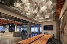 Office Meeting Room Ceiling Cloud Design