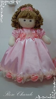 Boneca Princesa 50cm | Rose Charale Bonecas de Pano | Elo7