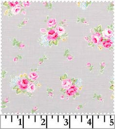 Little Roses on Aqua Flower Sugar Lecien by NauvooQuiltCo on Etsy, $4.95