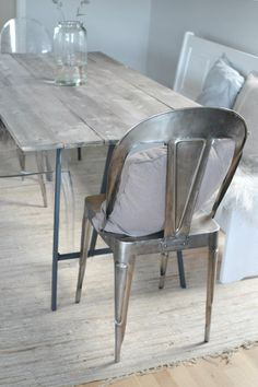 decor inspiration wood and silver hmmm