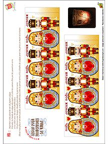 Free Printable Matryoshka (and Nutcracker) wraps for candles.  Very pretty.  Site has lots of printables of matryoshkas.