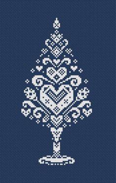 cross stitch christmas tree p Xmas Cross Stitch, Cross Stitch Heart, Cross Stitching, Cross Stitch Embroidery, Cross Stitch Numbers, Theme Noel, Modern Cross Stitch Patterns, Christmas Embroidery, Christmas Cross