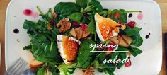 spring salad with pomegranate, peach, walnuts and goat cheese Hey there, I hope you all had a good week! The last ten days . Weekend Recipe, Spring Salad, Goat Cheese, Pomegranate, Peach, Coffee, Creative, Recipes, Kaffee