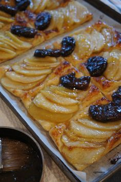 Delicious dairy free apple and fig tart