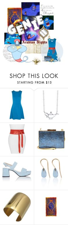 """Genie (Aladdin)"" by krgood7 ❤ liked on Polyvore featuring Halston Heritage, Disney, Ada, Lanvin, Prada, Love Is, C.R.A.F.T., disney, Genie and ittyBittyLivingSpace"