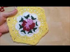 كروشيه وحدة كاث كيدستون السداسية Cath Kidston Flower - YouTube