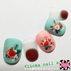 ネイル 画像 flicka nail arts  789840 フラワー ソフトジェル ハンド