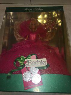 Vintage 1990 Happy Holidays Barbie Doll on Mercari Happy Holidays Barbie, Mattel Dolls, Vintage, Vintage Comics