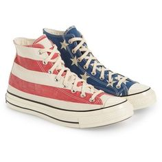 Converse Chuck Taylor All Star American Flag' Sneaker (Men) from Nordstrom. Converse Chuck Taylor All Star, Converse All Star, Chuck Taylor Sneakers, High Top Boots, High Top Sneakers, Men's Sneakers, Vintage Shoes, Vintage Men, American Flag Converse