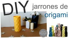 Cómo hacer jarrones de papel origami - DIY