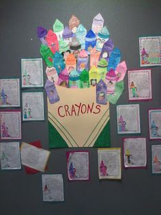 Crayon  box that talked...why we need all the colors.  Good for MLK day- I have this book and its very sweet!