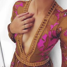 Pretty plunging details in our Barcelona Maxi Dress.  @gabriellecosentino  Shop with link in bio. #ForLoveAndLemons #Fall15 by forloveandlemons