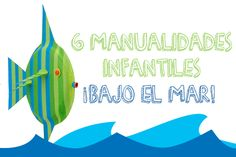 6 manualidades infantiles ¡bajo el mar! Paper Plate Crafts, Paper Plates, Craft Activities For Kids, Crafts For Kids, Ocean Themes, Sea And Ocean, Under The Sea, Outdoor Decor, Handmade