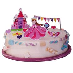 Decoración Princesas para decorar una tarta de cumpleaños http://www.airedefiesta.com/product/6256/0/0/1/1/Decoracion-Tarta-Princesas.htm