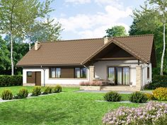 DOM.PL™ - Projekt domu ARN Mokka 8 CE - DOM RS2-09 - gotowy koszt budowy Modern Bungalow House, Tiny House, Home Fashion, Gazebo, House Plans, Sweet Home, Farmhouse, Exterior, Outdoor Structures